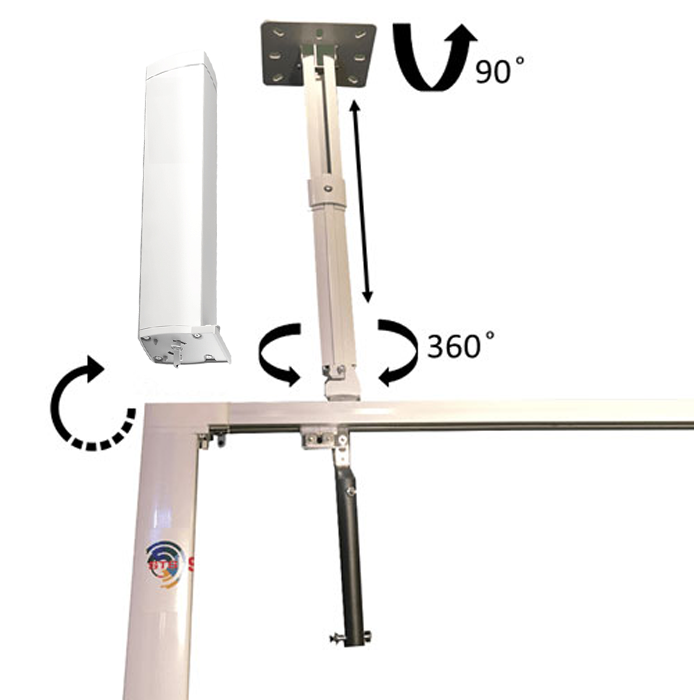 Telescopic Ceiling Bracket 10″ – 22″