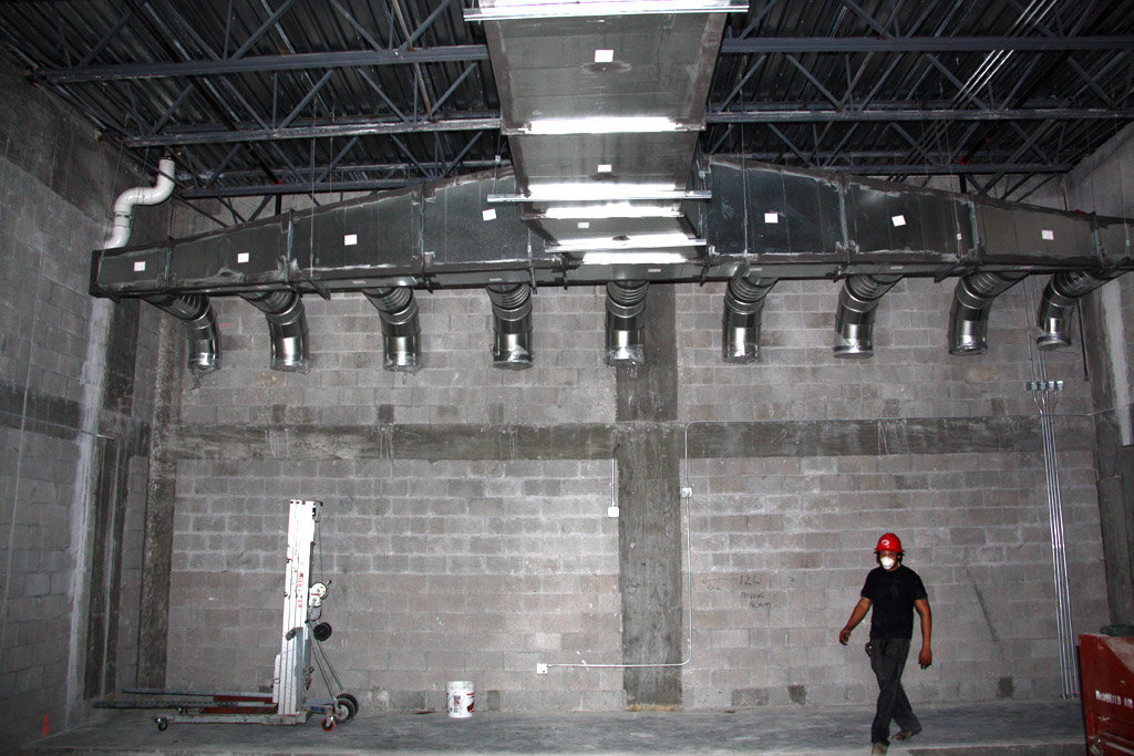 HVAC, shooting range target retrieval system