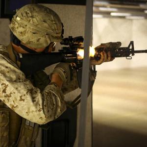 Soldier at Shooting Range